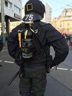 Polizei BP mit Feuerlöscher SCHWARZ